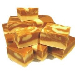 Caramel Vanilla Swirl Fudge