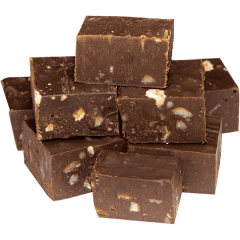Dark Chocolate Ginger & Macadamia Fudge