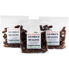 Milk Chocolate Licorice Bullets