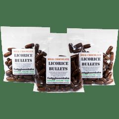 Milk Chocolate Licorice Bullets